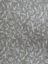 """ZOFFANY CURTAIN FABRIC DESIGN """"Leaf Trail"""" 3.75 METRES EMBROIDERED DESIGN LINEN"""