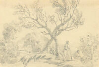Set of Three Late 19th Century Graphite Drawings - Various Landscape Studies