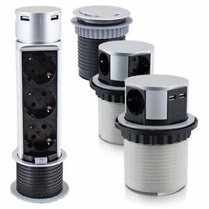 BITUXX Tischsteckdosen Versenkbar Einbausteckdosen Steckdosen Steckdosenleiste