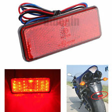 UNIVERSAL MOTORCYCLE BIKE LED REAR TAIL BRAKE STOP LIGHT NUMBER PLATE LAMP E4