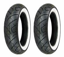 Shinko 130/80-17 & 180/65-16 777 White Wall Tires 09-15 Harley-Davidson Touring