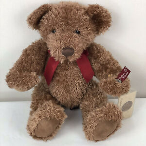 """Russ Vintage Collection """"Allington"""" Brown Jointed Teddy Bear 13"""" / with COA tag"""