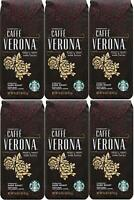 PACK OF 6 Starbucks Caffe Verona Whole Bean Coffee Best Before November 2020