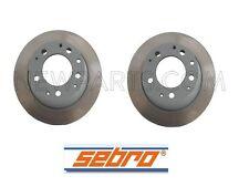 For Porsche 911 84-89 Pair Set of 2 Rear Solid Vented Disc Brake Rotors Sebro