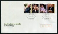 2008 Australian Legends of Philanthropy FDC First Day Cover Stamps Australia