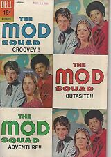 The Mod Squad  # 3 Dell Comics TV Peggy Lipton Fine+ Michael Cole Photo cover