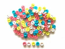 100 pcs Tiny buttons, micro buttons for sewing crafts findings 6mm mix colors