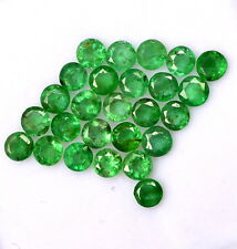 Natural Emerald Round Cut 3 mm Lot 13 Pcs 1.47 Cts Untreated Loose Gemstones