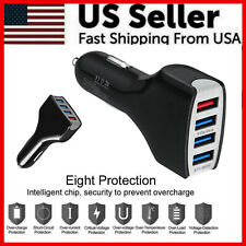4 Port Usb Quick 3.0A Fast Car Charger For Samsung iPhone Lg Google Cell Phone