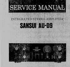 SANSUI AU-D9 INTEGRATED STEREO AMP SERVICE MANUAL INC SCHEMS PRINTED BOUND ENG