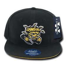 Wichita State University WSU Shockers NCAA Flat Bill Snapback Baseball Hat Cap
