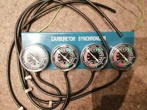 VACUUM GAUGE CARBURETTOR SYNCHRONISER BALANCER MOTORCYCLE CAR ENGINE 2/4 CYL