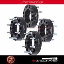 "4pcs 2"" 8 Lug 8x180 to 8x180 wheel spacers For Chevrolet Black 14x1.5 studs"