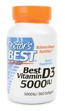 Doctor's Best, Best Vitamin D3, 5000 IU, 360 Softgels