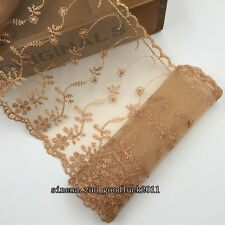 Floral Tulle Lace Trim Ribbon Flower Embroidery Wedding Trim Sewing crafts FL128