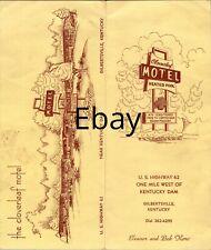 Cloverleaf Motel Travel Brochure Heated Pool Hwy 62 Dam Gilbertsville Ky - B1