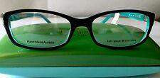 Kate Spade Eyeglasses Regine, Brand New, Black Aqua Women's Plastic