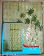 "PALM TREES PRINT  FABRIC SHOWER CURTAIN  by MAYTEX SIZE 72""X 72"" NEW IN BAG"