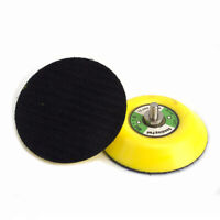 "2Pcs 3""Polishing Sander Backer Plate Napping Hook Loop Sanding Disc Pad Durable"