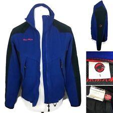 MAMMUT Full Zip Fleece Jacket Size Small Men's Blue Black Gore-tex Windstopper