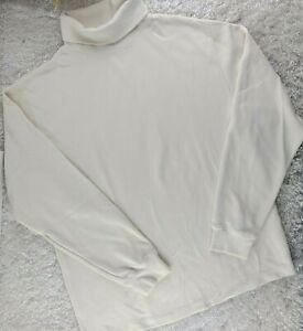 Helly Hansen winter white active turtle neck SIZE XL long sleeve winter sport (Y