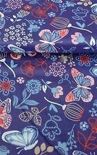 Vintage Mariposa Mariposas de tela de 100% Algodón Popelín Vendido por metros