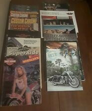 Lot of 17 Harley Davidson Parts & Accessories & other misc motorcycle catalogs