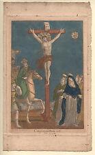 KREUZIGUNGSSZENE von J. C. Böcklin, um 1700 seltenes Original - altkoloriert!!