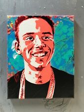 "Logic 8""x10""x1"" Painting on Canvas - Graffiti Spray Paint Planet Giggles Art Rap"