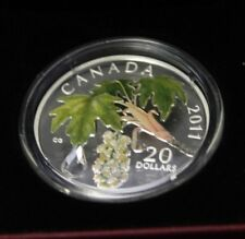 2011 $20 Fine silver Maple Leaf Crystal Raindrop - CAO AND BOX