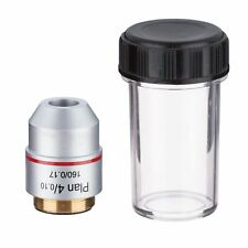 Universal RMS Thread 4X PLAN Objective Lens 160/0.17 for Biological Microscope