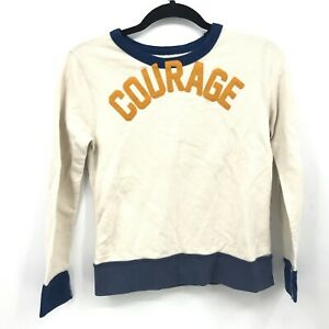 Crew Cuts Boys Long Sleeve Crew Neck Sweater Pullover Size 10 COURAGE Spell Out