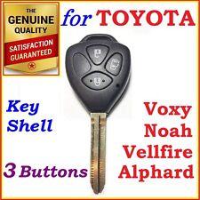 Toyota Alphard, Vellfire, Voxy, Noah, Remote Key Shell / Case Blank 3 Buttons
