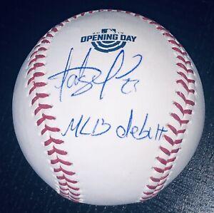 """Fernando Tatis Jr. signed Padres autographed """"MLB Debut"""" logo baseball JSA USASM"""