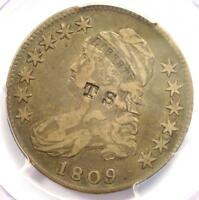 1809 O-114a Capped Bust Half Dollar 50C R5. PCGS Genuine / VF - Rarity 5 Variety