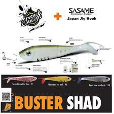 6 Teile Set DELALANDE Buster Shad + SASAME Japan Jig Haken  BS-13-46-SA
