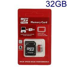 Carte Mémoire Micro SD HC 32 GB High Speed avec Adaptateur