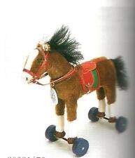 "STEIFF ""HORSE ON WHEELS-1932"" EAN 420146 MOHAIR HORSE ON WHEELS 35 CM CLUB-1998"
