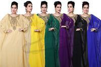 FARASHA MAXI ARABIC ISLAMIC KAFTAN LONG DRESS BEDI'S UAE STYLE WOMENS (KAF-2963)