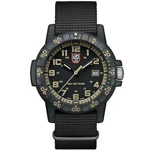 Luminox Leatherback Sea Turtle Quartz Black Dial NATO Strap Men's Watch XS.0333