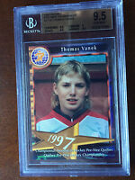1997 QUEBEC PEE WEE TOURNAMENT THOMAS VANEK BGS 9.5 GEM MINT PRE-ROOKIE RARE RC