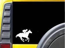 Thoroughbred Horse Racing Sticker k211 6 inch Jockey decal
