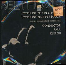 Beethoven Czech Phil Paul Kletzki Sym No 1 & 8 Supraphon 50791 LP