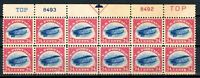 USAstamps Unused VF US Airmail Jenny Top Plate Block of 12 Scott C3 OG MNH