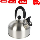1.8-Liter Whistle Tea Kettle, Stainless Steel, Coated and Contoured Handle photo