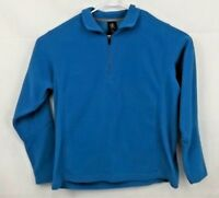 Lands End Polartec Fleece Blue Half-zip Pullover Size L 42-44