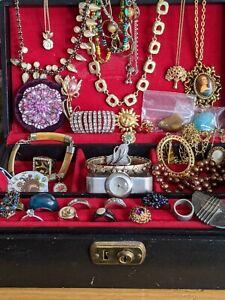 Joblot Of Vintage Costume Jewellery House Clearance