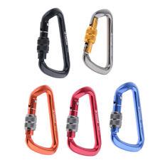 5pcs 28Kn Rock Climbing Mountaineering Carabiners Screw Gate Locking Rescue Gear
