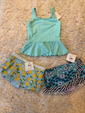 NWT Hanna Andersson 120 Mix It Up Swimsuit Swim Skirt Tankini Retro 3 Pieces!!