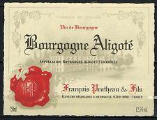 Etiquette de Vin - Bourgogne Alligoté -Protheau -  New - Never Stuck - Réf.n°17